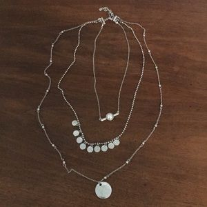 Fossil layered necklaces